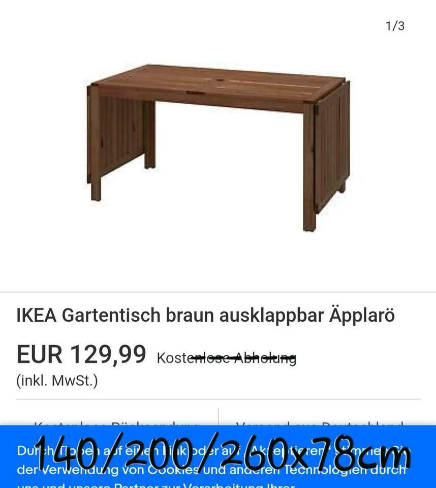 Full Size of Gartentisch Ikea Gebrauchte Pplar Tisch Und 4 Sthle In Baden Küche Kosten Betten Bei 160x200 Sofa Schlaffunktion Kaufen Wohnzimmer Gartentisch Ikea