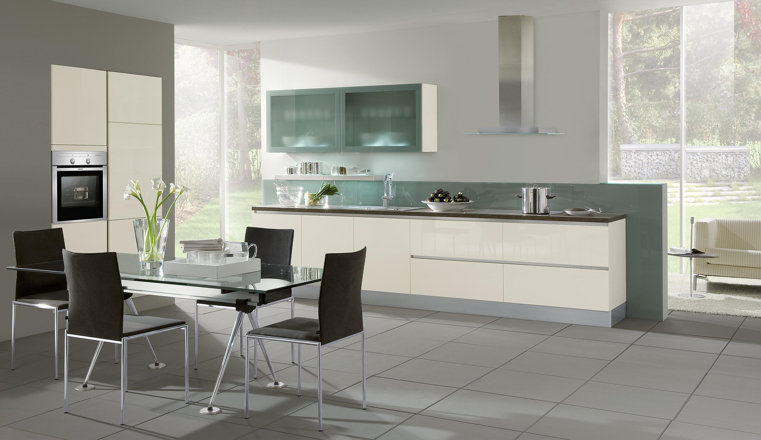 Full Size of Design Einbaukche Classica Grifflos 100 Weiss Kchenquelle Küchen Regal Wohnzimmer Küchen Quelle