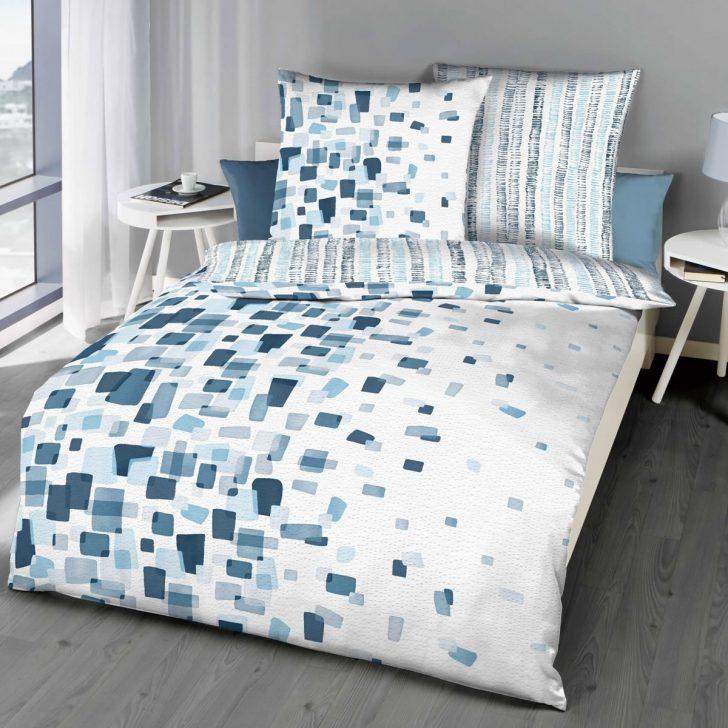 Medium Size of Bettwäsche 155x220 Kaeppel Seersucker Wende Bettwsche Cm Module 9701 Blau Sprüche Wohnzimmer Bettwäsche 155x220