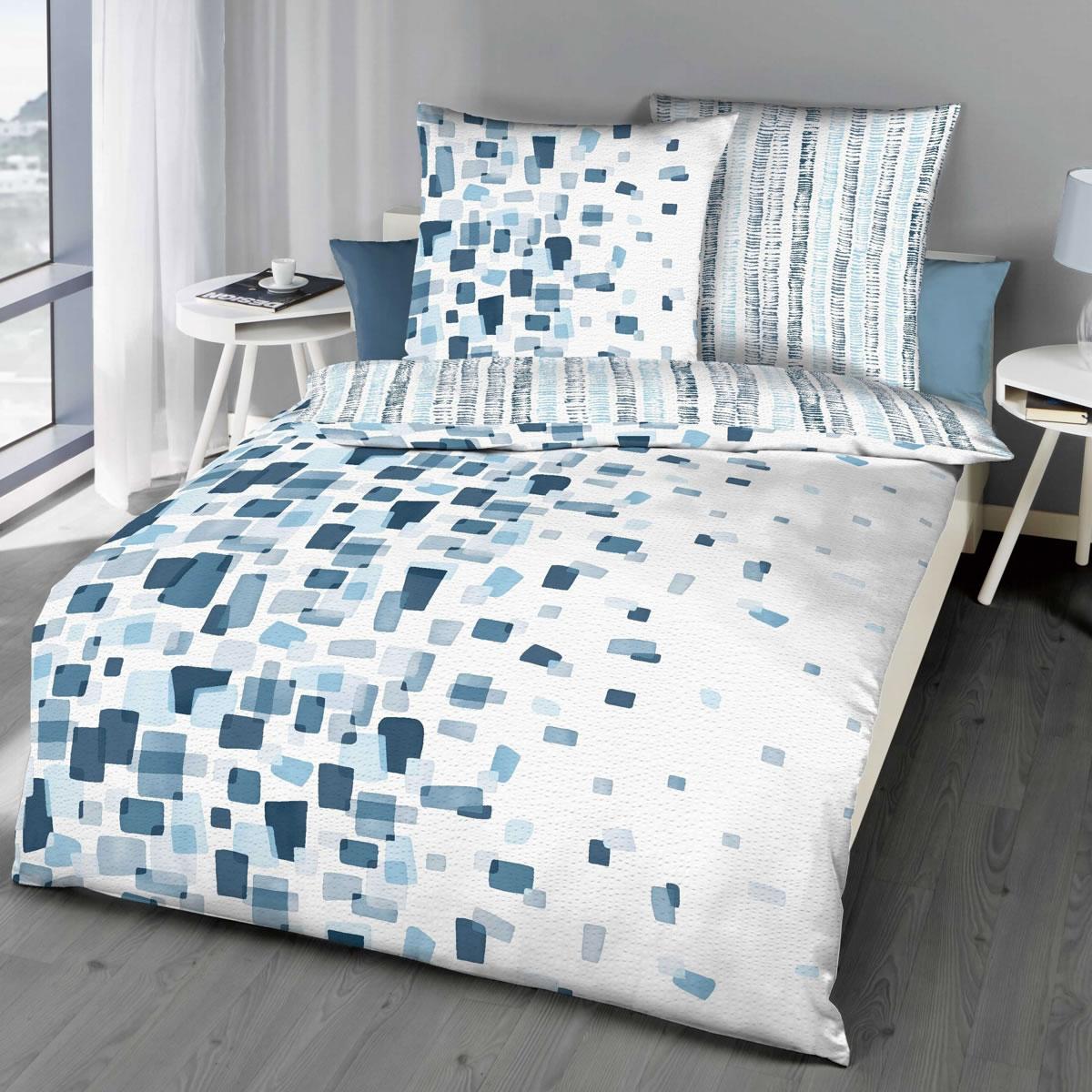 Full Size of Bettwäsche 155x220 Kaeppel Seersucker Wende Bettwsche Cm Module 9701 Blau Sprüche Wohnzimmer Bettwäsche 155x220