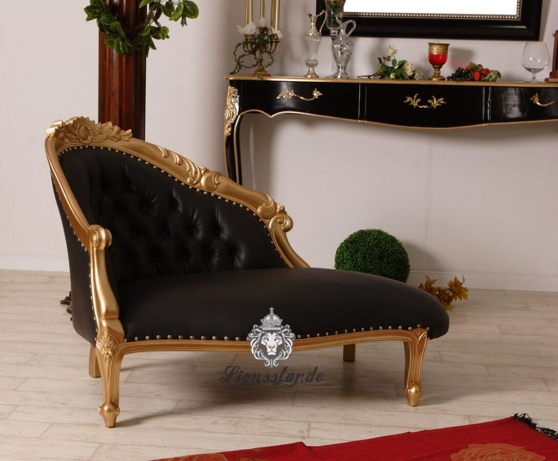 Large Size of Recamiere Samt Barock Sofa Gold Schwarz Lionsstar Gmbh Mit Wohnzimmer Recamiere Samt