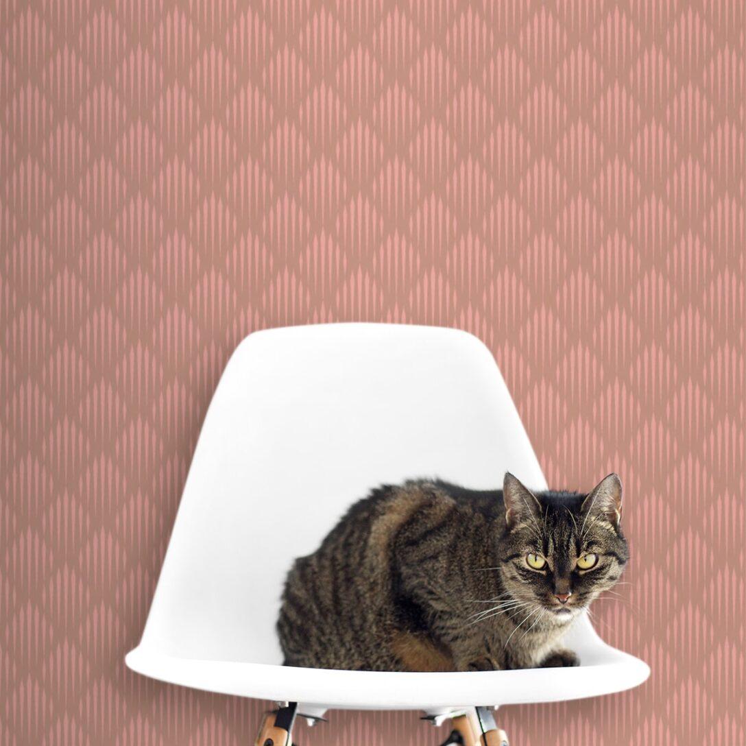 Large Size of Art Deko Diamant Design Tapete Mit Grafischer Eleganz In Altrosa Stehlampe Schlafzimmer Landhausstil Led Deckenleuchte Wandtattoos Gardinen Für Günstige Wohnzimmer Altrosa Schlafzimmer