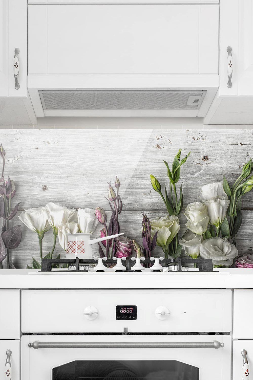 Full Size of Spritzschutz Glas Tulpen Rose Shabby Holzoptik Panorama Quer Wandsticker Küche Lampen Tapeten Für Die Mit E Geräten Günstig Planen Kostenlos Einbauküche Wohnzimmer Küche Shabby