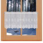 Scheibengardinen Landhausstil Wohnzimmer Feenhaus Spitzen Gardine Elly Weie Plauener Stickerei Regal Landhausstil Boxspring Bett Esstisch Schlafzimmer Weiß Küche Bad Wohnzimmer Scheibengardinen Sofa