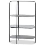 Regalwürfel Metall Wohnzimmer Windin Regal Schwarz Metall Kaufen Homy Bett Weiß Regale