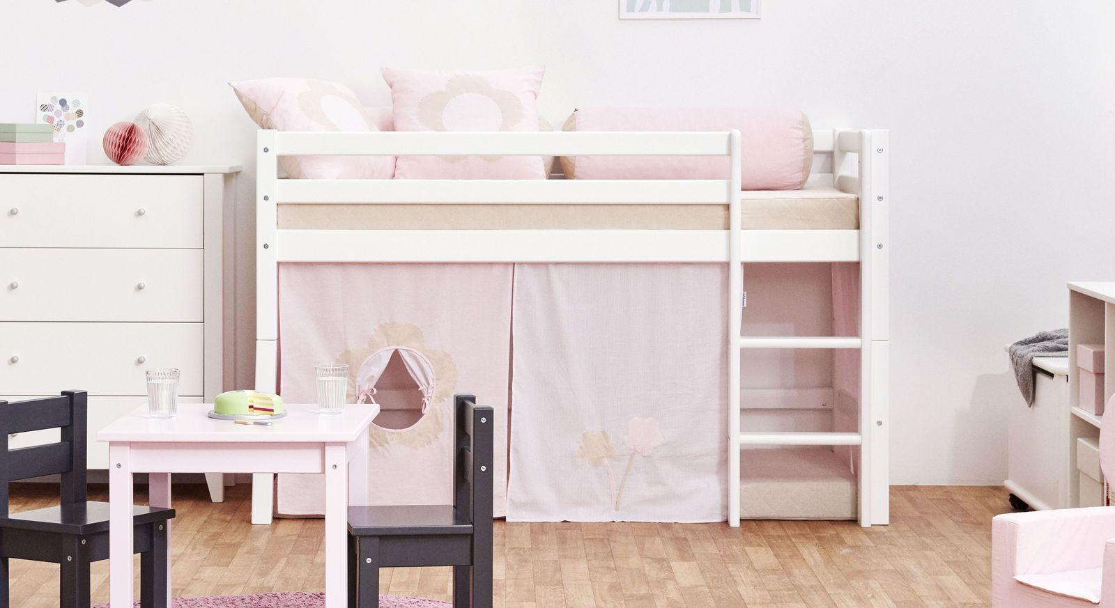 Full Size of Halbhohes Hochbett Bett Aus Massiver Kiefer In Zwei Gren Prinzessin Wohnzimmer Halbhohes Hochbett