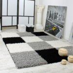Teppich Schwarz Weiß Hochglanz Regal Bad Hängeschrank Wohnzimmer Schlafzimmer Weiße Regale Bett 90x200 Mit Schubladen 200x200 Set 120x200 Badezimmer Wohnzimmer Teppich Schwarz Weiß