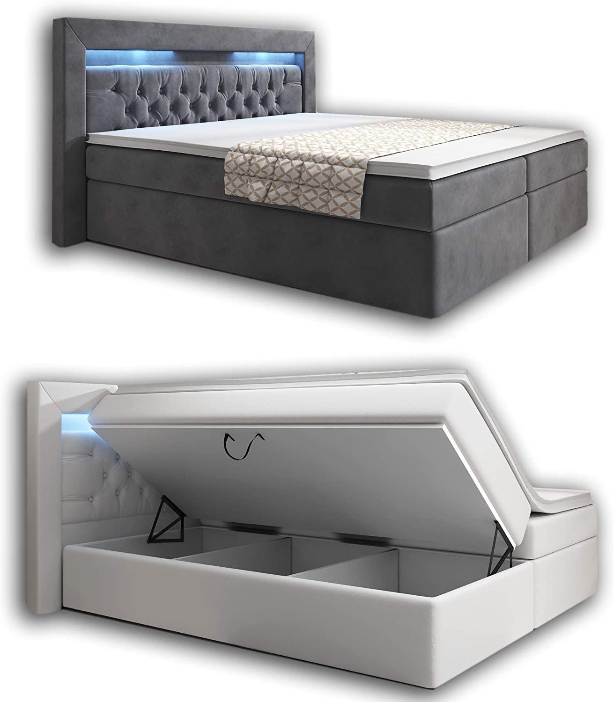 Full Size of Boxspringbett Samt Amazonde Wohnenluxus 180x200 Grau York Schlafzimmer Set Mit Sofa Wohnzimmer Boxspringbett Samt