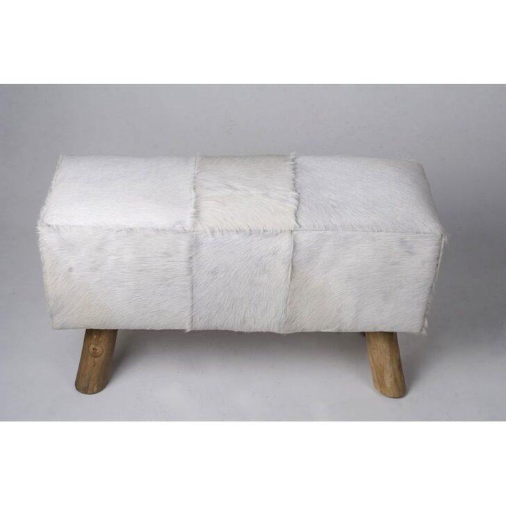 Medium Size of Ziegen Fell Bank Wei 80x37x41 Cm Gnstig Kaufen Bett Mit Gepolstertem Kopfteil Sitzbank Garten Bad Küche Lehne Schlafzimmer Wohnzimmer Gepolsterte Sitzbank