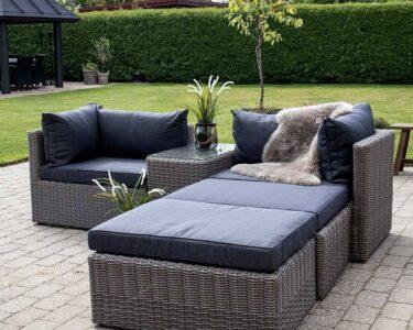 Couch Terrasse Wohnzimmer Terrassen Lounge Set Tolofo Aus Kunstrattan In Graubraun Und