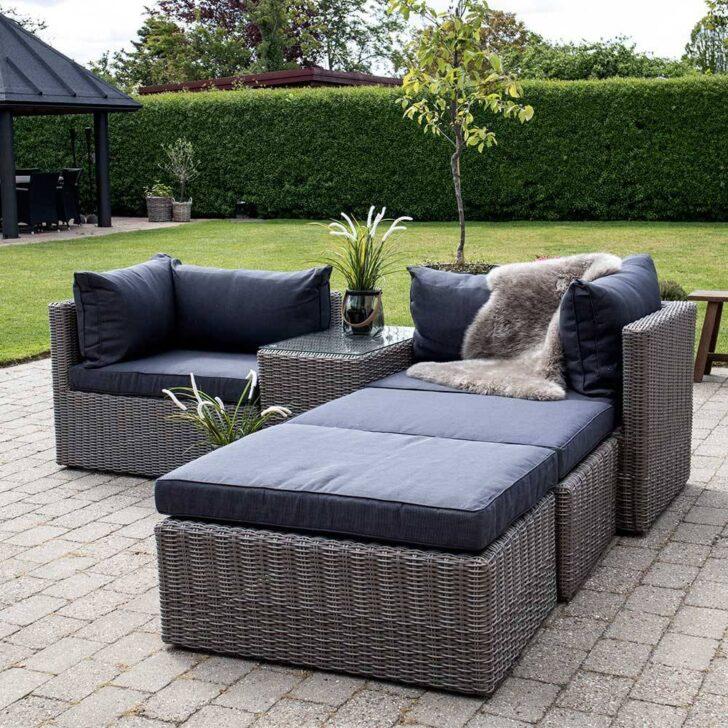 Medium Size of Terrassen Lounge Set Tolofo Aus Kunstrattan In Graubraun Und Wohnzimmer Couch Terrasse