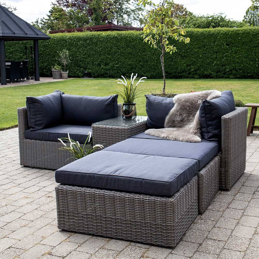 Full Size of Terrassen Lounge Set Tolofo Aus Kunstrattan In Graubraun Und Wohnzimmer Couch Terrasse