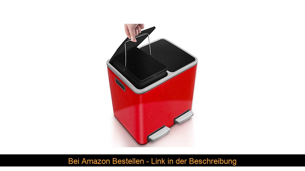 Full Size of Casa Pura Abfalleimer Feliedelstahl Mlleimer Mit Pedal 2 Wohnzimmer Küchenabfalleimer