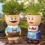 Blumentopf Figur Keramik Resi Und Sepp Krutertopf Real Kräutertopf Küche Waschbecken Wohnzimmer Kräutertopf Keramik