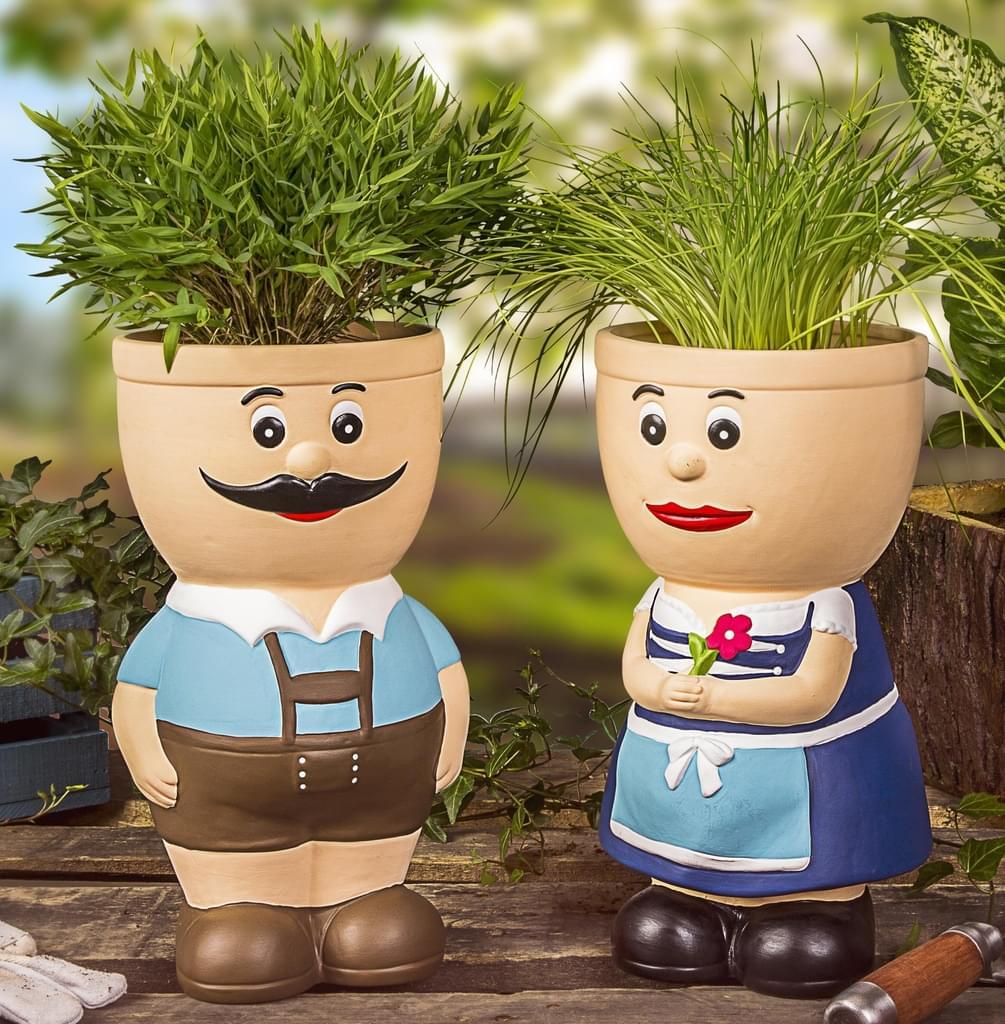 Full Size of Blumentopf Figur Keramik Resi Und Sepp Krutertopf Real Kräutertopf Küche Waschbecken Wohnzimmer Kräutertopf Keramik