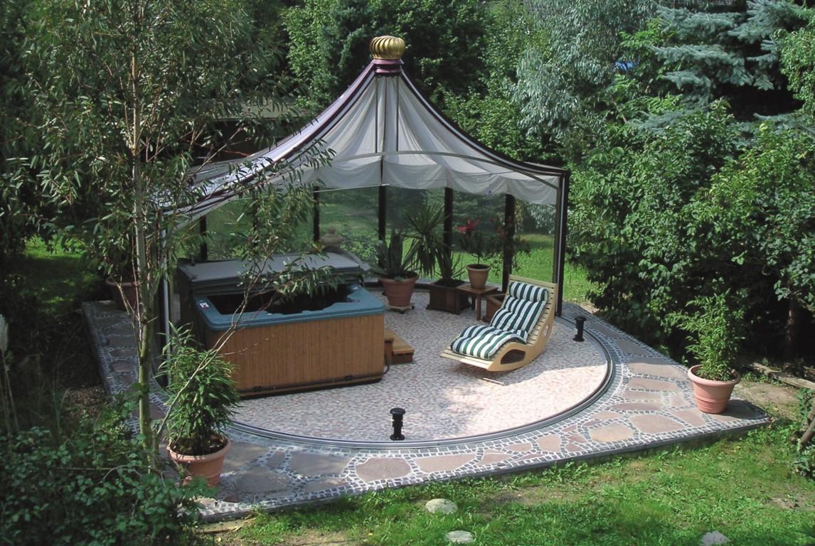 Full Size of Pavillon Rund Gartenpavillon Eisen Ersatzdach 3m Pavillion Metall Garten Wohnzimmer Pavillon Eisen