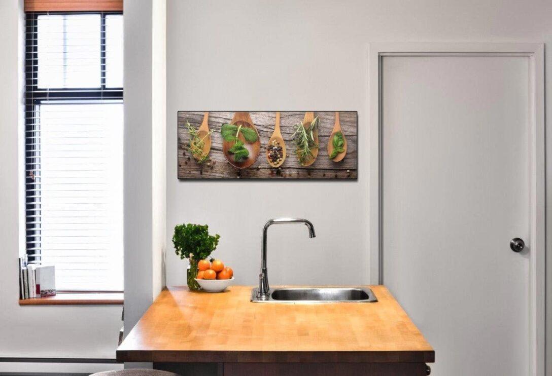 Large Size of Küchen Glasbilder Levandeo Glasbild 30x80cm Wandbild Aus Glas Kche Kruter Gewrze Bad Küche Regal Wohnzimmer Küchen Glasbilder