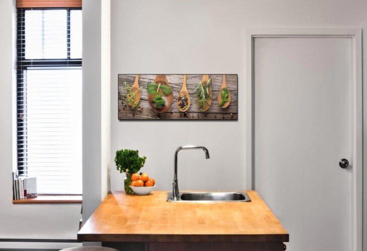 Medium Size of Küchen Glasbilder Levandeo Glasbild 30x80cm Wandbild Aus Glas Kche Kruter Gewrze Bad Küche Regal Wohnzimmer Küchen Glasbilder