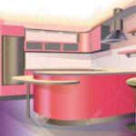 Rosa Küche Wohnzimmer Rosa Küche Kche Interieur Illustration Lizenzfrei Nutzbare Kräutertopf Günstig Mit Elektrogeräten Hängeschrank Glastüren Vinyl Fliesenspiegel Gebrauchte