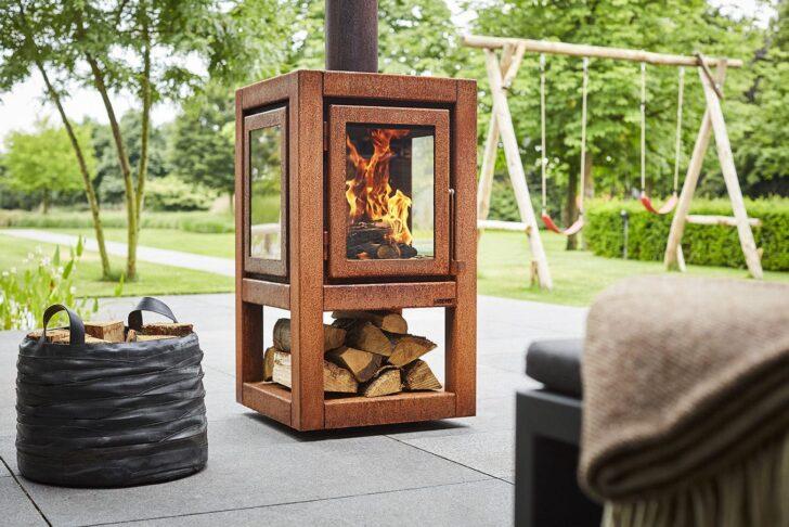 Medium Size of Holz Kaminofen Quaruba Xl Rb73 Zentral Cortenstahl Glas Wohnzimmer Holzlege Cortenstahl