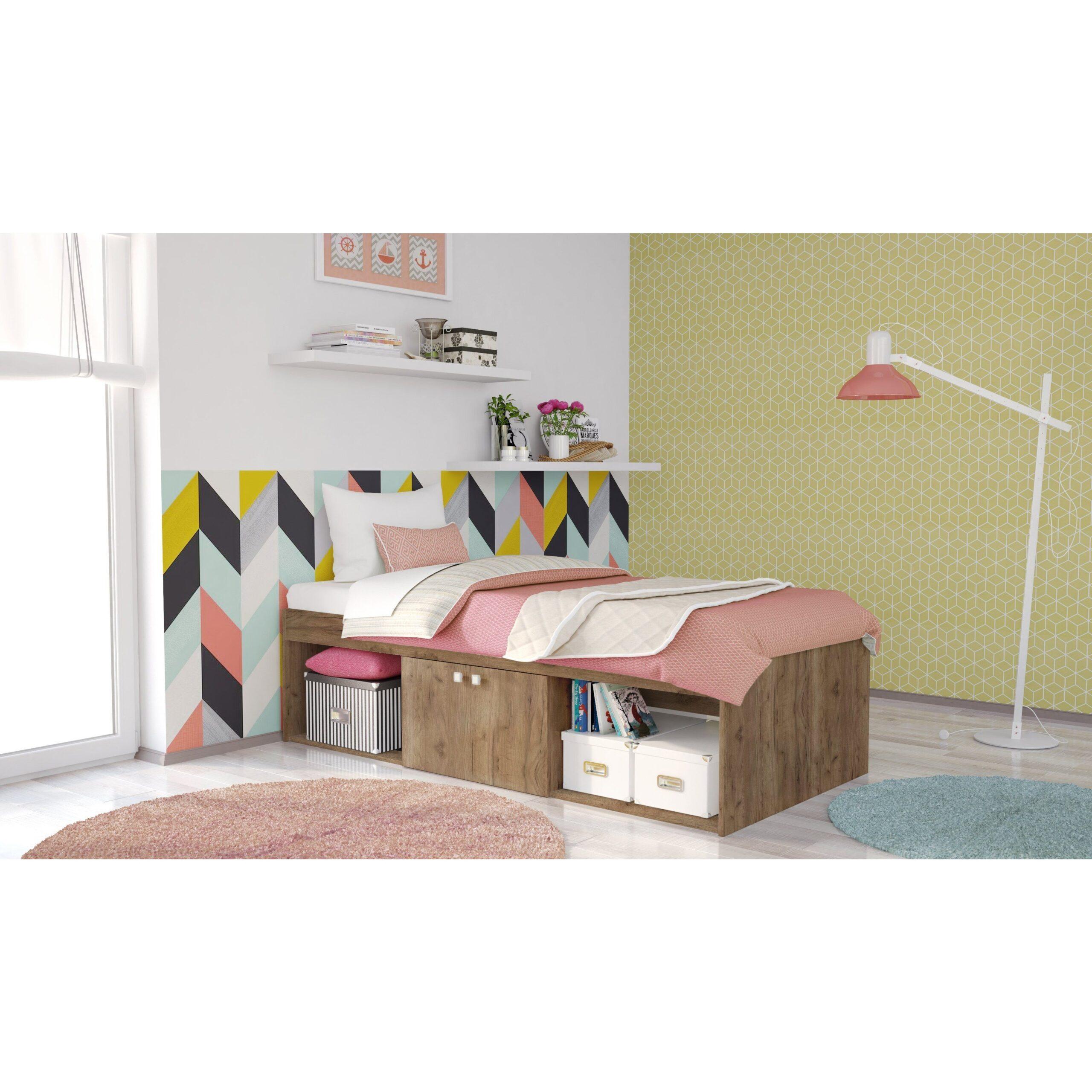 Full Size of Kinderbett Stauraum Polini Kids Jugendbett Stauraumbett Simple Grau Bett Mit 160x200 200x200 140x200 Betten Wohnzimmer Kinderbett Stauraum