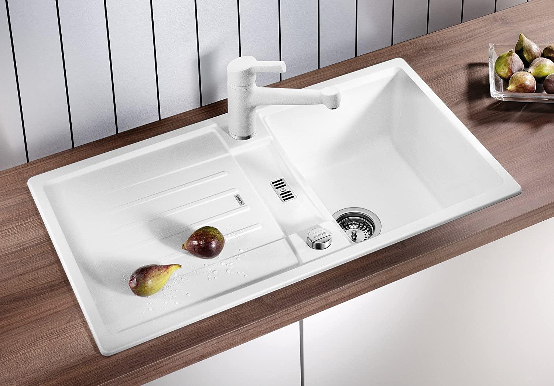 Full Size of Waschbecken Küche Weiß Blanco Lexa 45 S Kchensple Pino Fliesenspiegel Glas Handtuchhalter Einhebelmischer Wellmann Wasserhähne Sitzecke Eiche Bad Kommode Wohnzimmer Waschbecken Küche Weiß