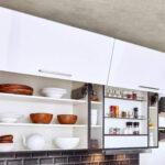 Hängeregal Kücheninsel Moderne Einbaukche Classica 1230 Polarweiss Hochglanz Kchenquelle Küche Wohnzimmer Hängeregal Kücheninsel