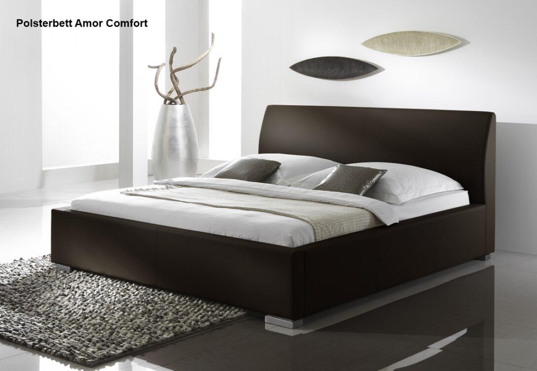 Large Size of Lederbett Polsterbett Amor Leder Bett Braun Muddy 100x200 200x220 Betten Wohnzimmer Polsterbett 200x220