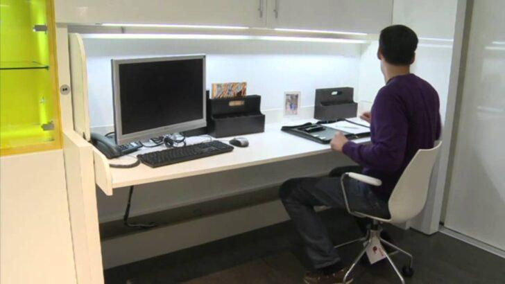 Medium Size of Klappbares Doppelbett Bauen Bett Hfele Mit Tavoletto In Sekunden Vom Schreibtisch Zum Youtube Ausklappbares Wohnzimmer Klappbares Doppelbett