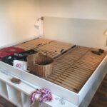 Rausfallschutz Selbst Gemacht Familienbett Aus Kallaregalen Einfach Selber Machen Küche Zusammenstellen Bett Wohnzimmer Rausfallschutz Selbst Gemacht