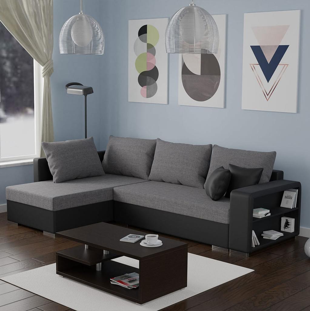 Full Size of Couch Ausklappbar Mirjan24 Ecksofa Clovis Eckcouch Mit Schlaffunktion Real Bett Ausklappbares Wohnzimmer Couch Ausklappbar