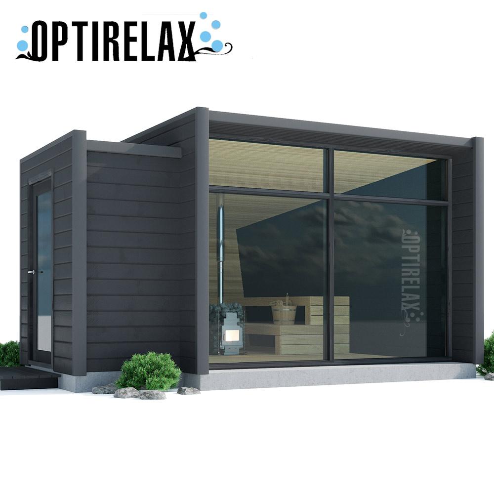 Full Size of Gartensauna Bausatz Xl Outdoor Sauna Optirelastyle Mit Umkleide Optirelax Wohnzimmer Gartensauna Bausatz
