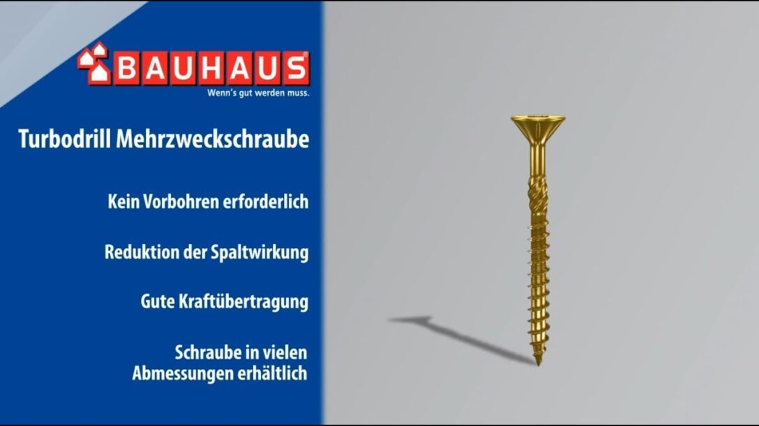 Large Size of Paravent Bauhaus Profi Depot Mehrzweck Schraube Turbo Drill L 6 100 Mm Fenster Garten Wohnzimmer Paravent Bauhaus