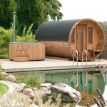 Fasssauna 400 De Luxe Wohnzimmer Gartensauna Bausatz