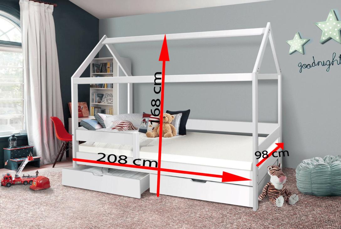 Large Size of Bett 90x200 Weiß Mit Schubladen Weißes Kiefer Bettkasten Betten Lattenrost Und Matratze Wohnzimmer Jugendbett 90x200