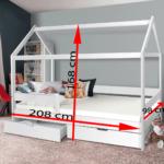 Bett 90x200 Weiß Mit Schubladen Weißes Kiefer Bettkasten Betten Lattenrost Und Matratze Wohnzimmer Jugendbett 90x200