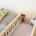 Kinderbett Diy Kostenlose Nhanleitung Bettnestchen Bettlaken Frs Babybett Wohnzimmer Kinderbett Diy