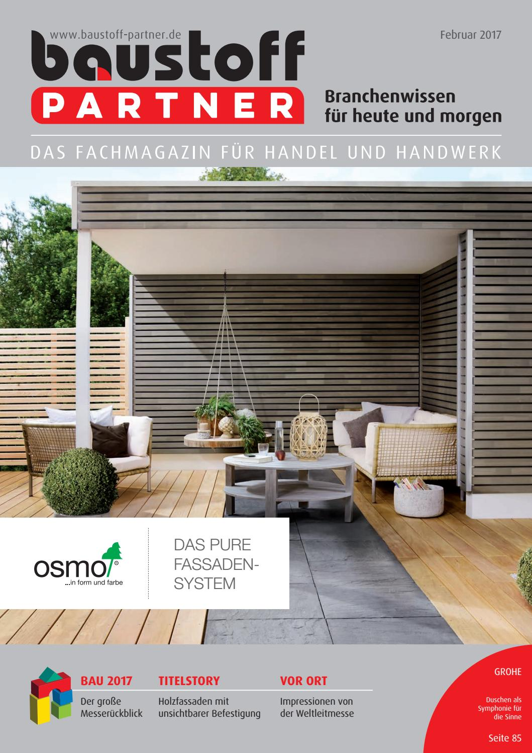 Full Size of Baustoffpartner Februar 2017 By Sbm Verlag Gmbh Drutex Fenster Test Wohnzimmer Drutex Erfahrungen Forum