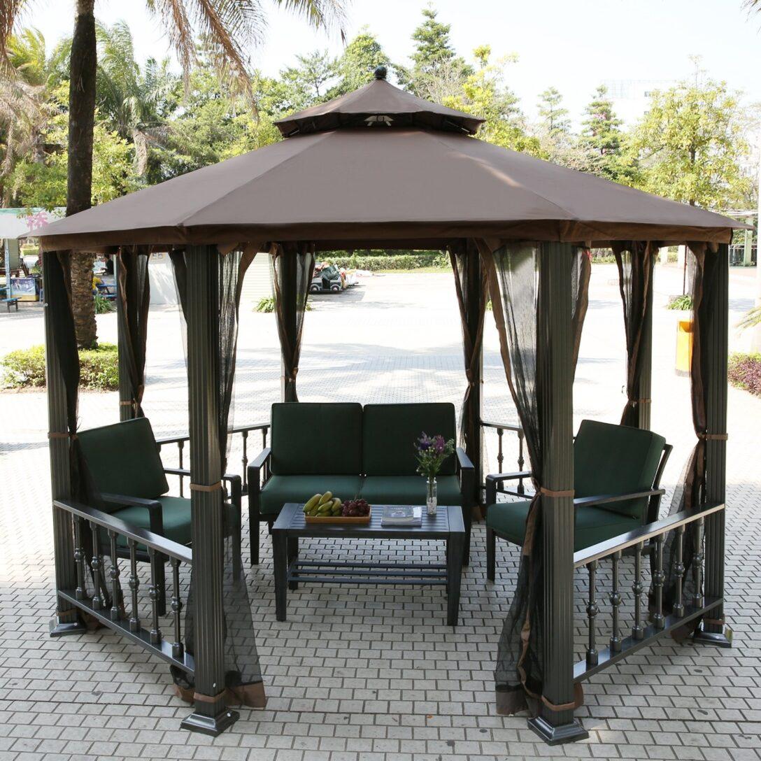 Large Size of Terrassen Pavillon Teamyy Aluminium Garten Gazebo Berdachung Pavillion Wohnzimmer Terrassen Pavillon