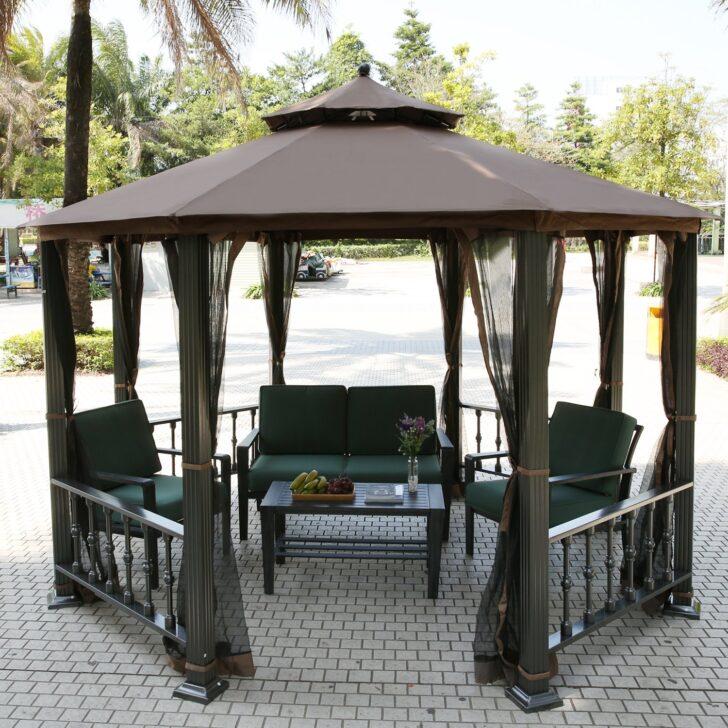 Medium Size of Terrassen Pavillon Teamyy Aluminium Garten Gazebo Berdachung Pavillion Wohnzimmer Terrassen Pavillon