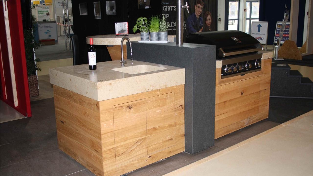 Full Size of Mobile Outdoorküche Outdoorkche Naturstein Gasgrill Zapfanlage Küche Wohnzimmer Mobile Outdoorküche