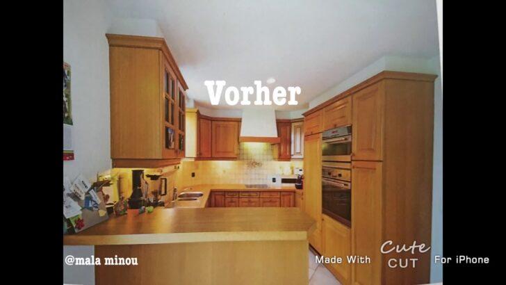 Medium Size of Holzküche Auffrischen Kche Eiche Rustikal Wei Streichen Youtube Vollholzküche Massivholzküche Wohnzimmer Holzküche Auffrischen