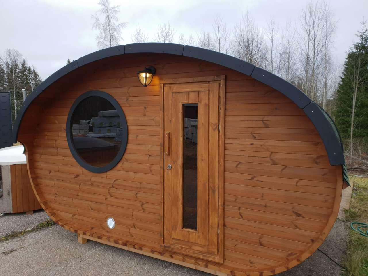 Full Size of Gartensauna Bausatz Fasssauna Deluxe 400 Oval Sauna Fder Oberklasse Wohnzimmer Gartensauna Bausatz