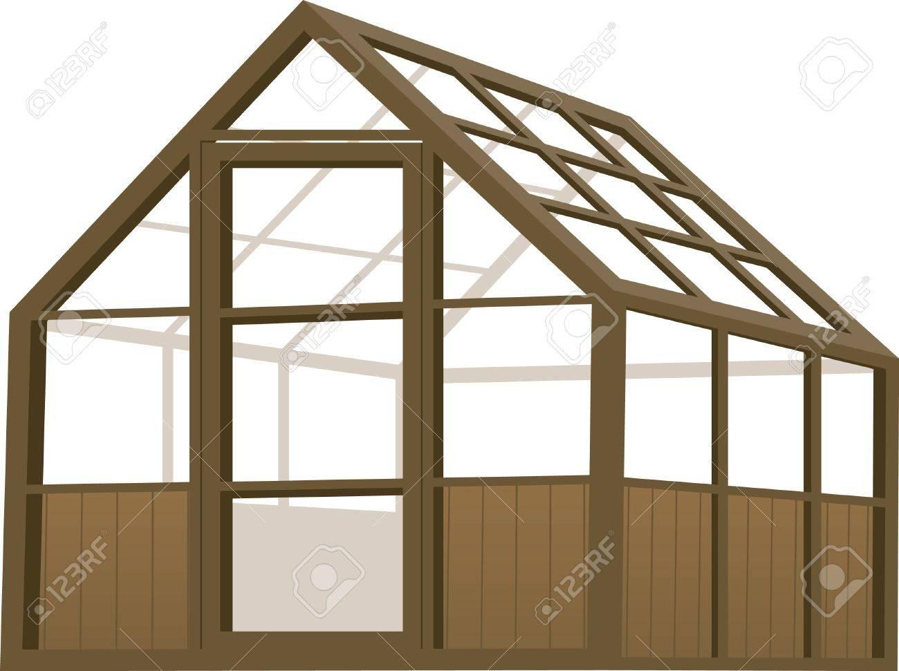 Full Size of Illustration Eines Holz Struktur Typ Gewchshauses Lizenzfrei Küche Massivholz Betten Holzhaus Garten Esstisch Fliesen Holzoptik Bad Vollholzküche Regal Wohnzimmer Gewächshaus Holz