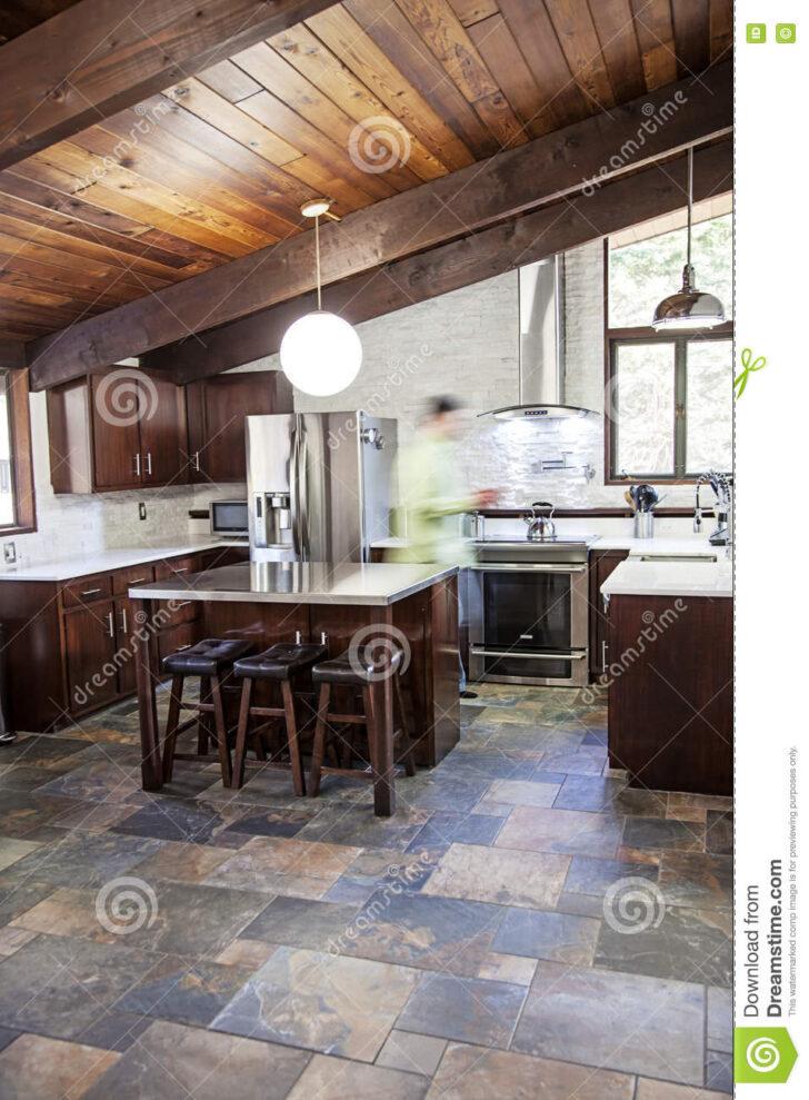Medium Size of Küchen Rustikal Rustikale Kche Stockfoto Bild Von Schiefer 78081668 Regal Rustikales Bett Rustikaler Esstisch Holz Küche Wohnzimmer Küchen Rustikal