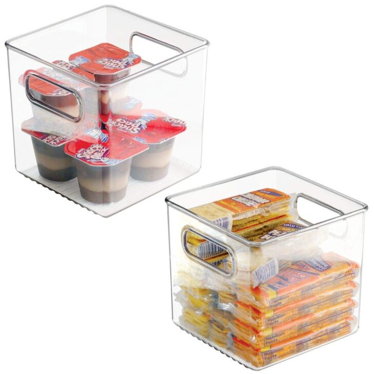 Medium Size of Mdesign 2er Set Khlschrankbo15x15x15cm Stapelbare Aufbewahrungsbehälter Küche Küchen Regal Wohnzimmer Küchen Aufbewahrungsbehälter