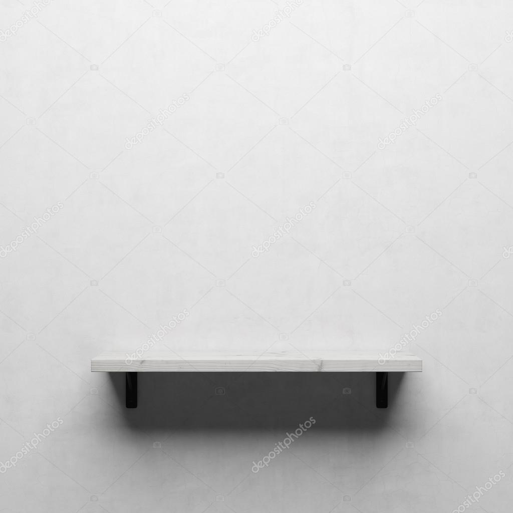 Full Size of Weie Holzregal Auf Weien Wand Stockfoto Schlafzimmer Wandtattoos Bad Glaswand Küche Wandregal Wandleuchte Wandtattoo Sprüche Trennwand Garten Wandlampe Wohnzimmer Holzregal Wand