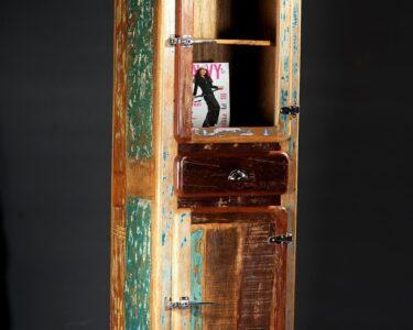 Vorratsschrank Holz Wohnzimmer Vorratsschrank Holz Badezimmerschrank Hochschrank Altholz Recycelt Bunt Schlafzimmer Massivholz Regal Sofa Mit Holzfüßen Holzhaus Garten Vollholzküche