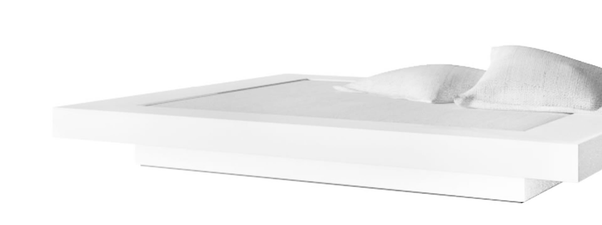 Full Size of Flaches Bett Visum Weies Puristisches Design Von Cars Massiv Bette Badewannen Boxspring Schöne Betten Rückwand Meise Weißes 140x200 Weiß 90x200 180x200 Wohnzimmer Flaches Bett