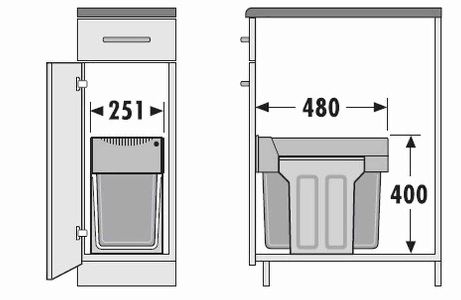 Full Size of Mlleimer Abfalleimer Kche 2x15 Liter Hailo Mllsystem Müllsystem Küche Wohnzimmer Müllsystem
